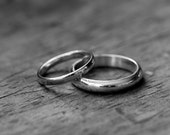 14kPalladium White Gold RIng, Made To Order Simple, Handmade Engagement or Wedding Ring
