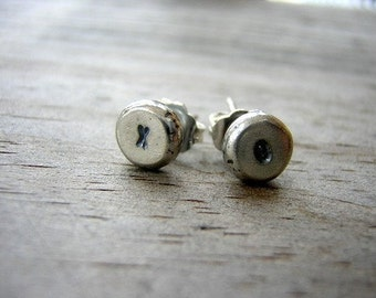 XO Hugs and Kisses Earrings in Sterling, Made to Order