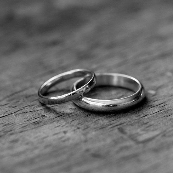 14k Palladium White Gold Ring, Made To Order Simple, Handmade Engagement or Wedding Ring