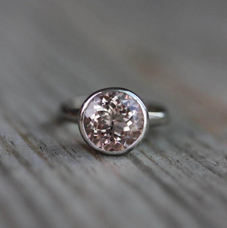 morganite gold gemstone ring 10mm morganite by