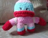 Oz - Pink Striped Sock Monster