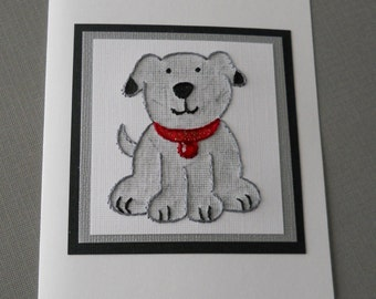Hand Stitched Precious Pup Card / five pack