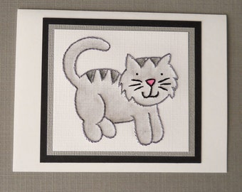 Sweet Kitty Card in Gray/Black - Five-Pack