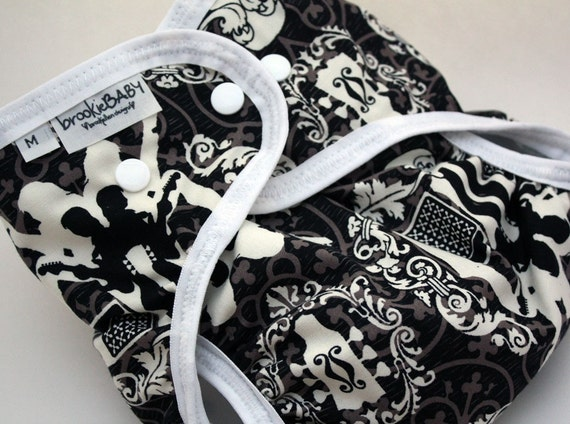 diaper cover damask ROCK Available in S, M, L