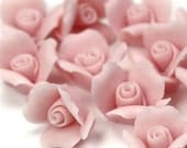 Rose Flower Cabochons - Ceramic 8mm Pink(4) cc005
