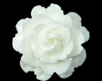 Vintage Style 23mm White Flower Cabochons PC004 BULK WHOLESALE 26 pieces