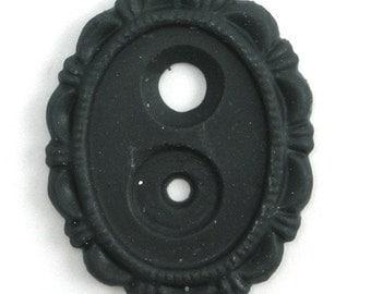 Plastic Decorative Setting 18/13mm Matte Black (4) FI182  50% OFF CLEARANCE SALE