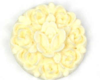 Flower Cluster Cabochon Plastic 17mm Ivory (6) PC135 50% OFF CLEARANCE SALE