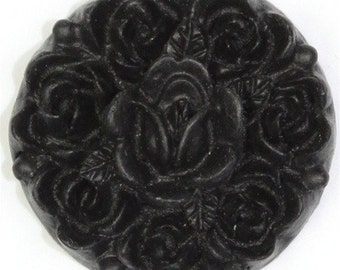 Flower Cluster Cabochon Plastic 17mm Black (6) PC138 50% OFF CLEARANCE SALE