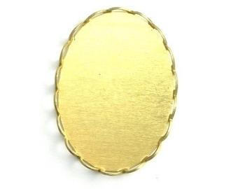 Settings Lace Edge Raw Brass 25x18mm (10) FI204