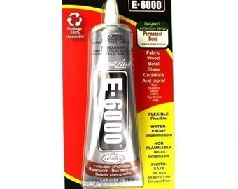 E6000 Craft and Jewelry Adhesive 2 oz Tube with Tip A04