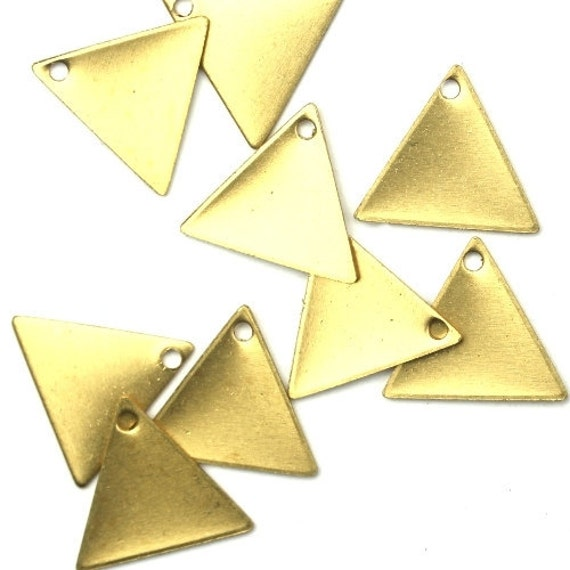 Charms Small Triangle Blank Geometric Shape Raw Brass 13x11mm (10) CP141