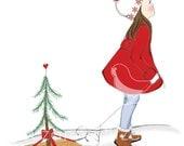 Christmas Star Holliday Card