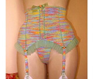 Betty Retro Waist-Cincher/Garter Belt--Knitting Pattern