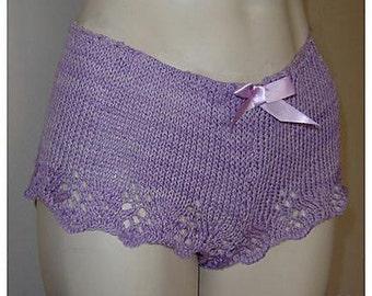 Lacy Boyshorts--Knitting Pattern