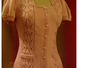 Kimberly Lacy Cardigan--Knitting pattern