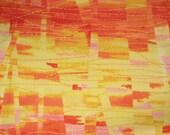Orange Faux Patchwork - 1 Yard