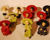 Asian Figurine Chalkeware -  individuals