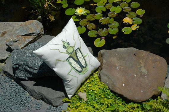 Green Bug Pillow
