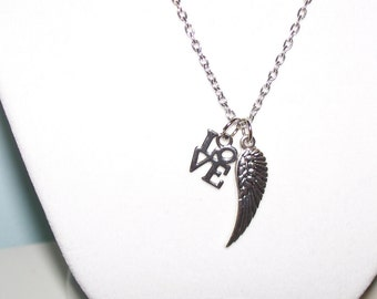 Angel Wing Love Necklace