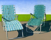 Summer Loungers - limited edition giclee print 36/100