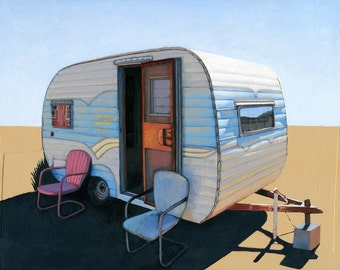 Desert Camper two - limited edition archival print 52/100
