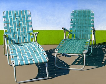 Summer Loungers - limited edition giclee print 37/100