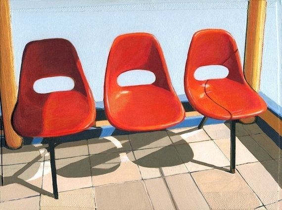 Three Seater - 11 x 14 limited edition giclee print 98/100