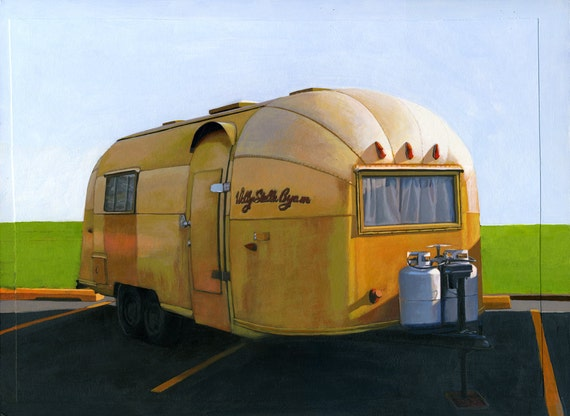 Airstream Gold - 12 x 16 limited edition archival print 63/100