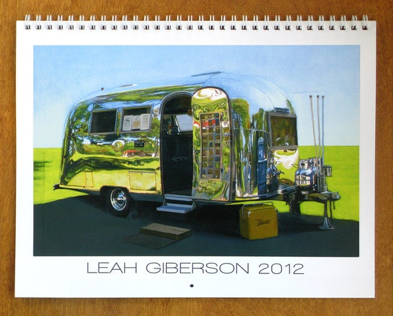2012 Wall Calendar - Selected paintings of chairs and campers