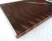Modern Steamed Walnut End Grain Chopping Board