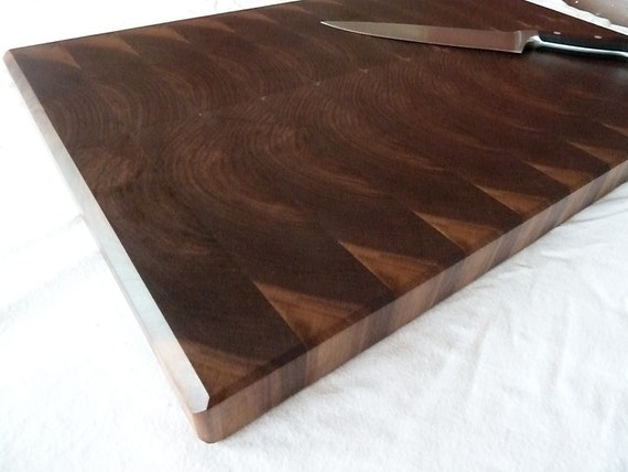 Modern Steamed Walnut End Grain Chopping Board