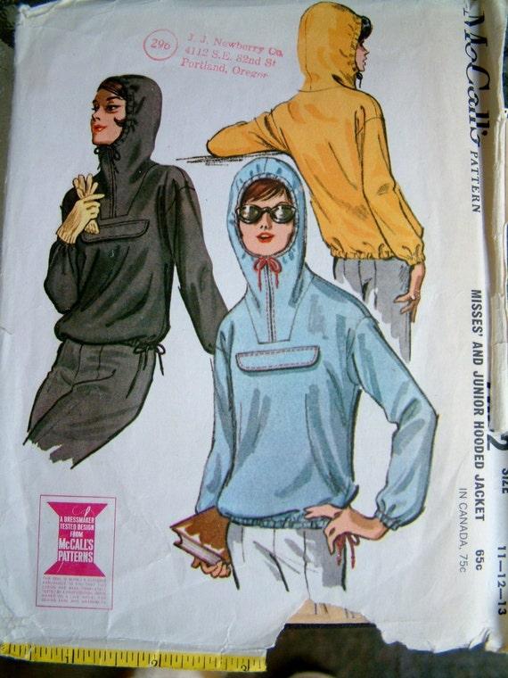 1960s Hooded Jacket Pattern