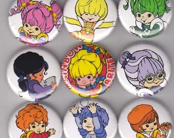 9 Rainbow Brite Buttons