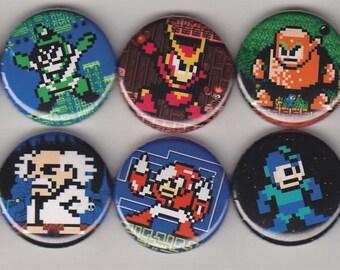 10 Megaman Buttons