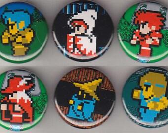 6 Final Fantasy Nintendo Buttons