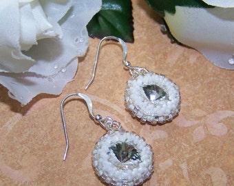 Clear Crystal Rivoli Earrings