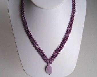 Purple Feather Necklace