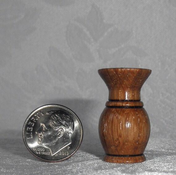 1/12 Scale Wood Vase - Turned on the Lathe - Miniature Vase