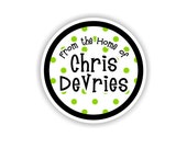 My Kitchen -- JUST DOTTY -- Vinyl Kitchen Container Labels -- 24 qty.
