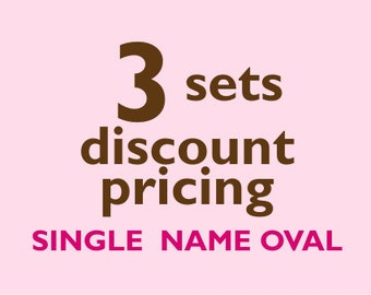 Single Name OVAL Kids Labels - 3 sets of 30 qty - Waterproof for kids
