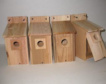 4 bluebird houses western red cedar handmade