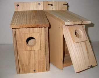 2 Bluebird Birdhouses Nest...western red cedar