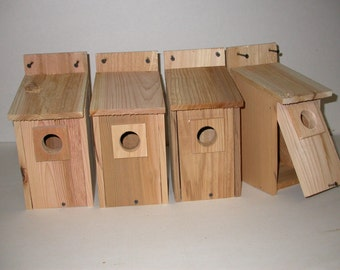 4 Bluebird  houses  ....western red cedar