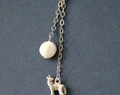 Howl at the Moon Lariat - Silver and pearl