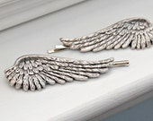 Wing Bobby Pins - Set of Two in Silver