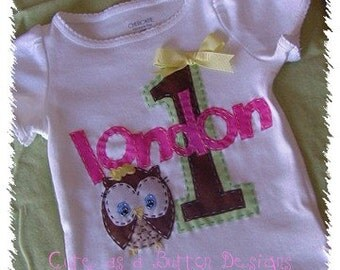 PERSONALIZED Look Whoo's Turning One Birthday Shirt