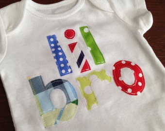 Little Brother Applique Onesie or Shirt