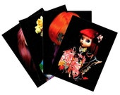 Zombuki Dolls On Black Series 1 Postcard Set - Four Designs x2 Each