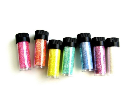 Floral Rainbow - Pee Wee Glitter Kit by Art Institute - 7 Colors of Ultrafine Loose Glitter